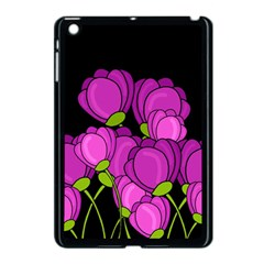 Purple Tulips Apple Ipad Mini Case (black) by Valentinaart