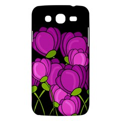 Purple Tulips Samsung Galaxy Mega 5 8 I9152 Hardshell Case  by Valentinaart