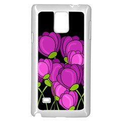 Purple Tulips Samsung Galaxy Note 4 Case (white)