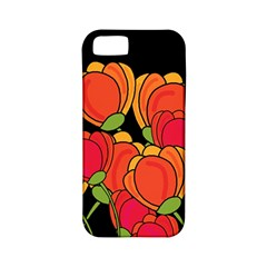 Orange Tulips Apple Iphone 5 Classic Hardshell Case (pc+silicone)