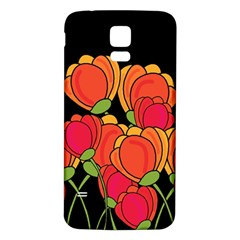 Orange Tulips Samsung Galaxy S5 Back Case (white)