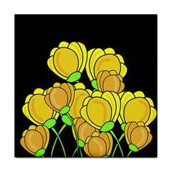 Yellow Tulips Tile Coasters by Valentinaart