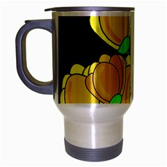 Yellow Tulips Travel Mug (silver Gray) by Valentinaart