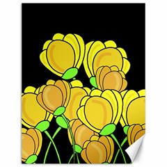 Yellow Tulips Canvas 12  X 16   by Valentinaart