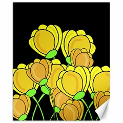 Yellow Tulips Canvas 16  X 20   by Valentinaart