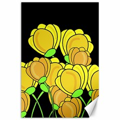 Yellow Tulips Canvas 24  X 36  by Valentinaart