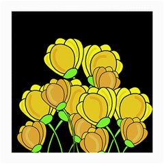 Yellow Tulips Medium Glasses Cloth by Valentinaart