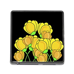 Yellow Tulips Memory Card Reader (square) by Valentinaart