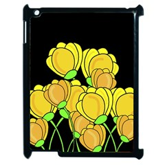 Yellow Tulips Apple Ipad 2 Case (black) by Valentinaart