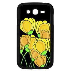 Yellow Tulips Samsung Galaxy Grand Duos I9082 Case (black) by Valentinaart