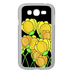 Yellow Tulips Samsung Galaxy Grand Duos I9082 Case (white) by Valentinaart