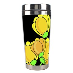 Yellow Tulips Stainless Steel Travel Tumblers by Valentinaart
