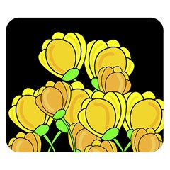 Yellow Tulips Double Sided Flano Blanket (small)  by Valentinaart