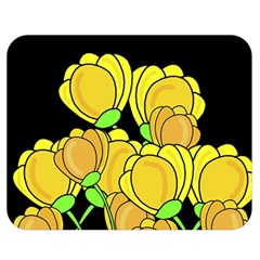 Yellow Tulips Double Sided Flano Blanket (medium)  by Valentinaart