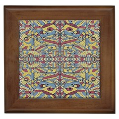 Multicolor Abstract Framed Tiles by dflcprintsclothing