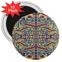 Multicolor Abstract 3  Magnets (10 Pack)  by dflcprintsclothing