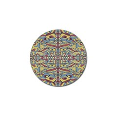 Multicolor Abstract Golf Ball Marker (4 Pack) by dflcprintsclothing