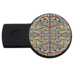 Multicolor Abstract Usb Flash Drive Round (4 Gb)  by dflcprintsclothing