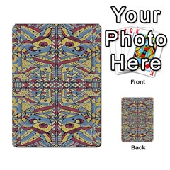 Multicolor Abstract Multi Purpose Cards (rectangle)  by dflcprintsclothing