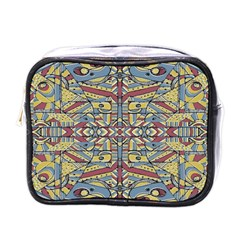 Multicolor Abstract Mini Toiletries Bags by dflcprintsclothing