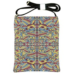 Multicolor Abstract Shoulder Sling Bags by dflcprintsclothing