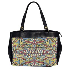 Multicolor Abstract Office Handbags (2 Sides)