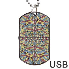 Multicolor Abstract Dog Tag Usb Flash (one Side)