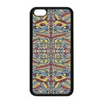 Multicolor Abstract Apple iPhone 5C Seamless Case (Black) Front