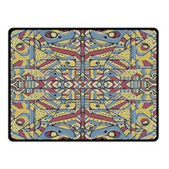 Multicolor Abstract Double Sided Fleece Blanket (small)  by dflcprintsclothing