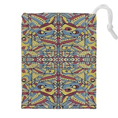 Multicolor Abstract Drawstring Pouches (xxl) by dflcprintsclothing