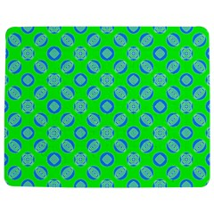 Mod Blue Circles On Bright Green Jigsaw Puzzle Photo Stand (rectangular) by BrightVibesDesign