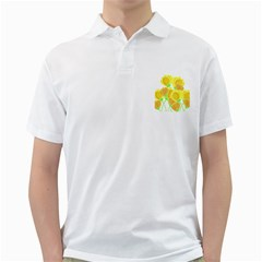 Yellow Flowers Golf Shirts by Valentinaart