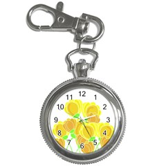 Yellow Flowers Key Chain Watches by Valentinaart