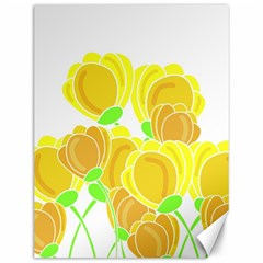 Yellow Flowers Canvas 12  X 16   by Valentinaart