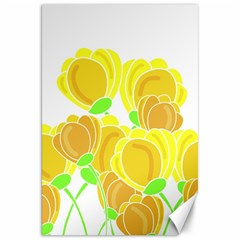Yellow Flowers Canvas 20  X 30   by Valentinaart