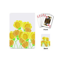 Yellow Flowers Playing Cards (mini)  by Valentinaart