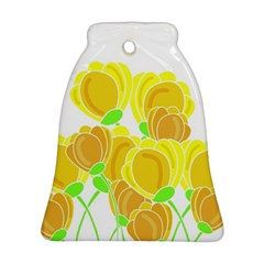 Yellow Flowers Bell Ornament (2 Sides) by Valentinaart