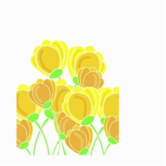 Yellow Flowers Large Garden Flag (two Sides) by Valentinaart