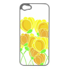 Yellow Flowers Apple Iphone 5 Case (silver) by Valentinaart