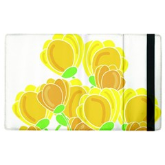 Yellow Flowers Apple Ipad 2 Flip Case by Valentinaart