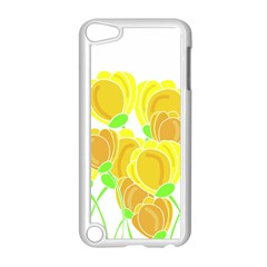 Yellow Flowers Apple Ipod Touch 5 Case (white) by Valentinaart