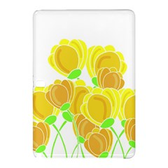 Yellow Flowers Samsung Galaxy Tab Pro 12 2 Hardshell Case by Valentinaart