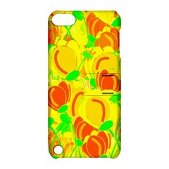 Yellow Garden Apple Ipod Touch 5 Hardshell Case With Stand by Valentinaart
