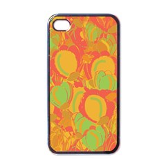 Orange Garden Apple Iphone 4 Case (black) by Valentinaart