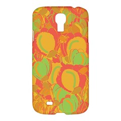 Orange Garden Samsung Galaxy S4 I9500/i9505 Hardshell Case by Valentinaart