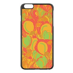 Orange Garden Apple Iphone 6 Plus/6s Plus Black Enamel Case by Valentinaart