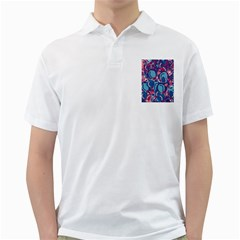 Blue Garden Golf Shirts by Valentinaart