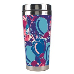 Blue Garden Stainless Steel Travel Tumblers by Valentinaart