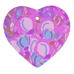 Pink Garden Heart Ornament (2 Sides) by Valentinaart