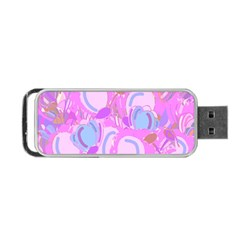 Pink Garden Portable Usb Flash (two Sides) by Valentinaart